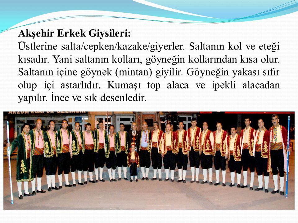 Akşehir Erkek Giysileri: