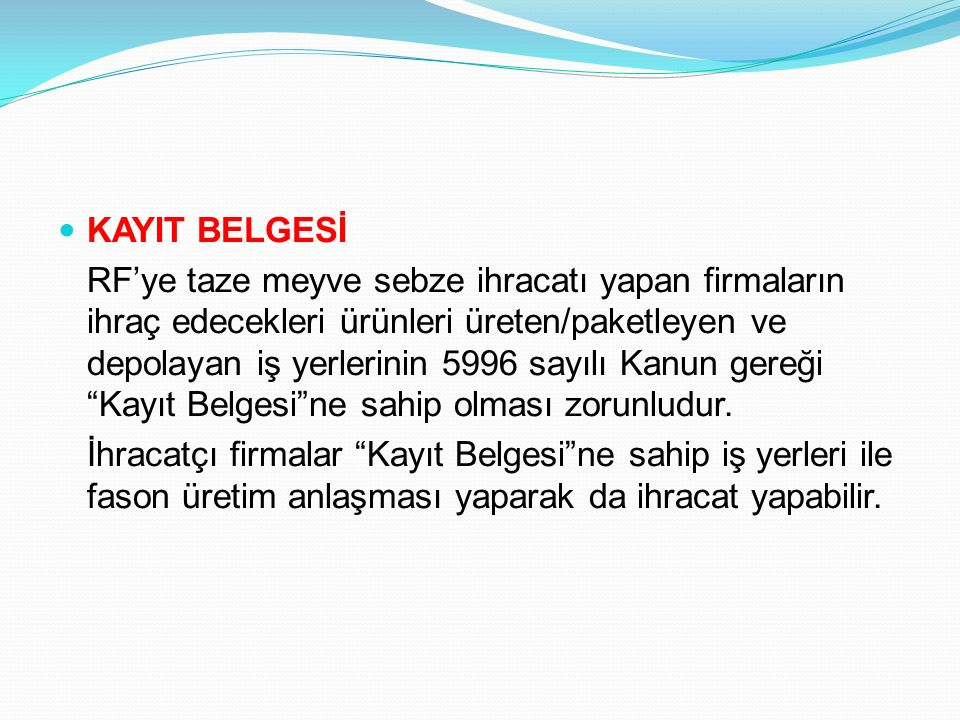 KAYIT BELGESİ