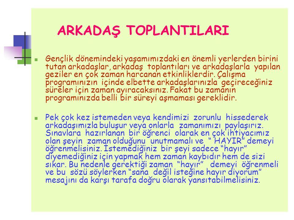 ARKADAŞ TOPLANTILARI