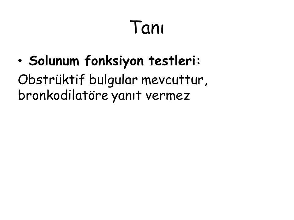 Tanı Solunum fonksiyon testleri: