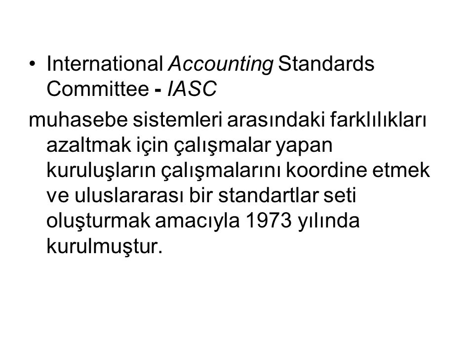 International Accounting Standards Committee - IASC