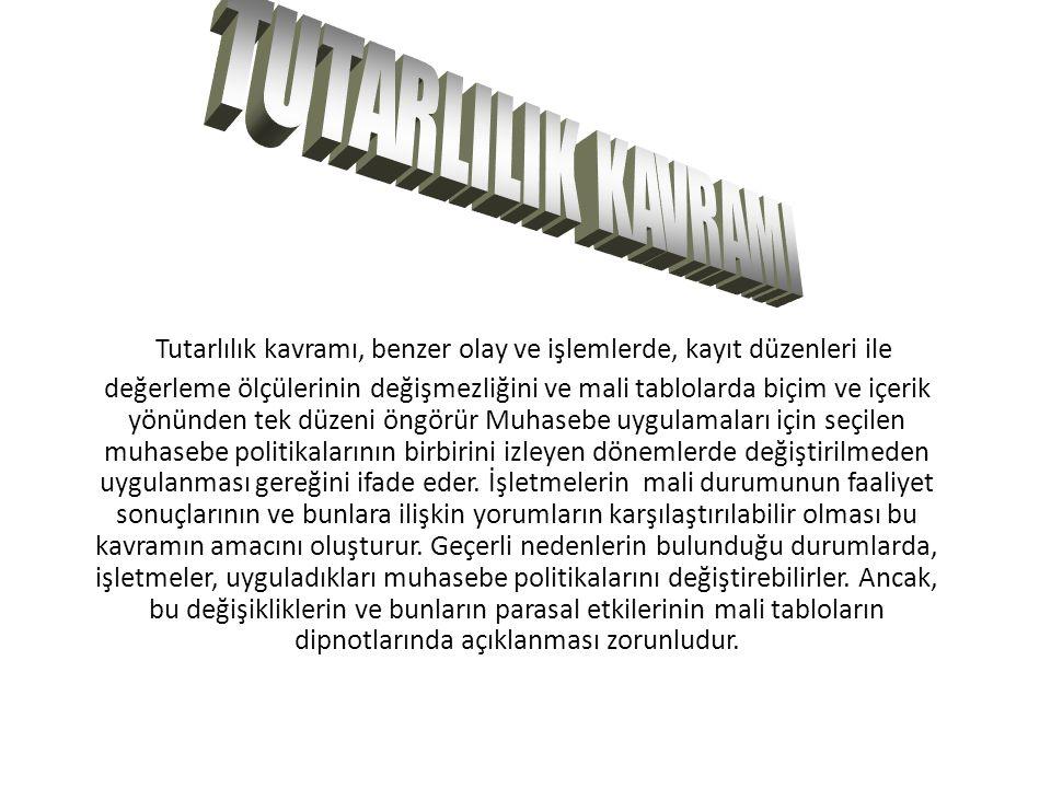 TUTARLILIK KAVRAMI