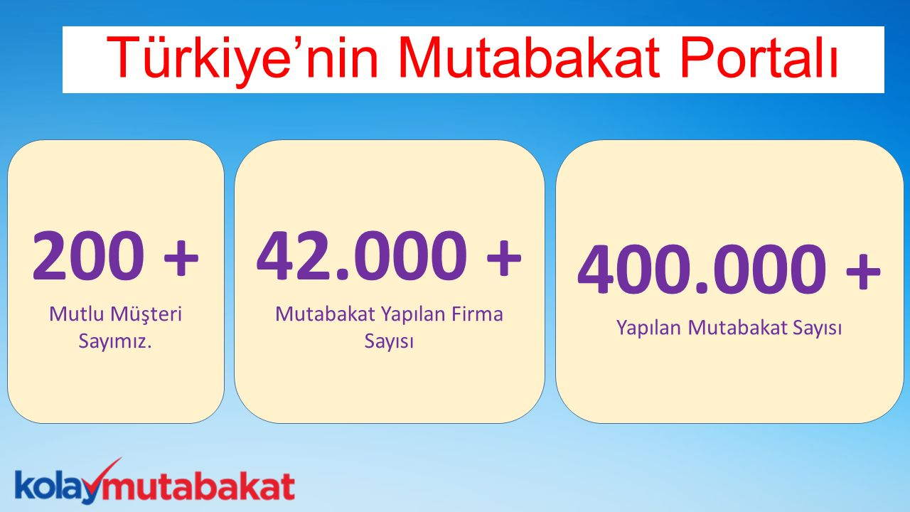 200 + 42.000 + 400.000 + Türkiye'nin Mutabakat Portalı