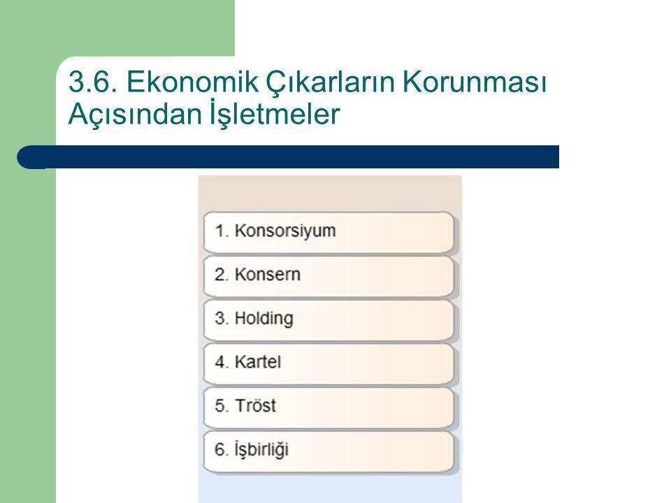 3.6. Ekonomik Çıkarların Korunması Açısından İşletmeler