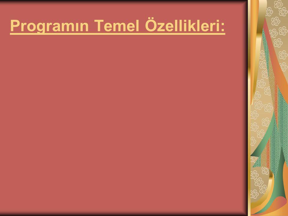Programın Temel Özellikleri: