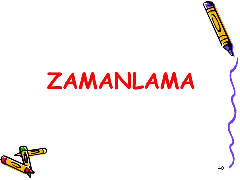 ZAMANLAMA