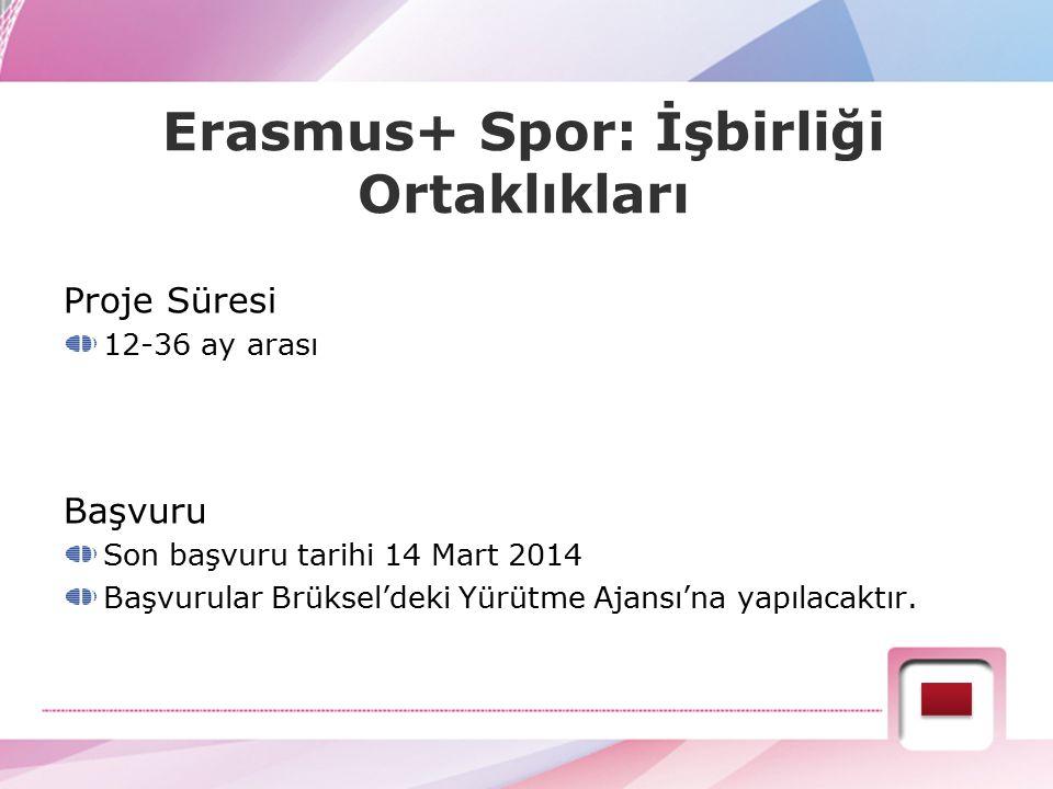 Erasmus+ Spor: İşbirliği Ortaklıkları