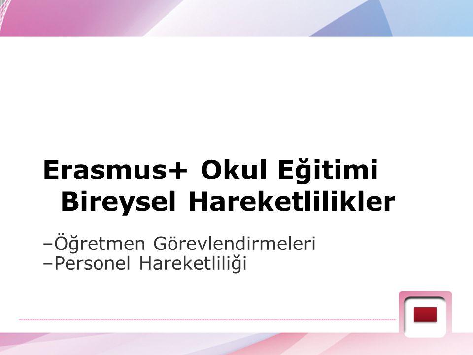 Erasmus+ Okul Eğitimi Bireysel Hareketlilikler