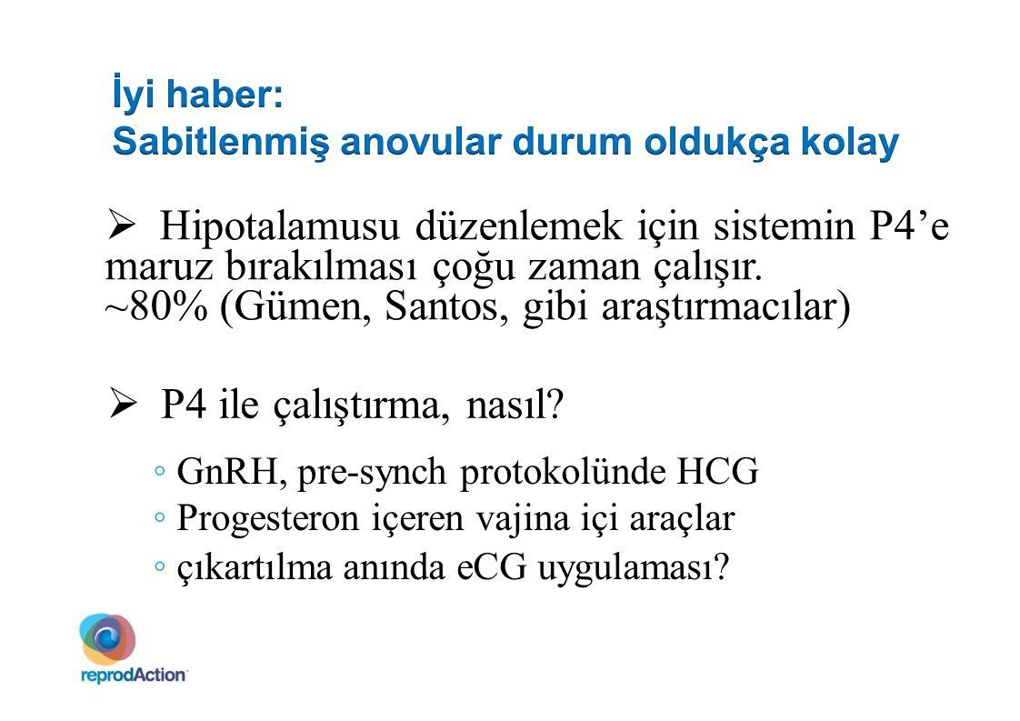 Hipotalamusu düzenlemek için sistemin P4'e