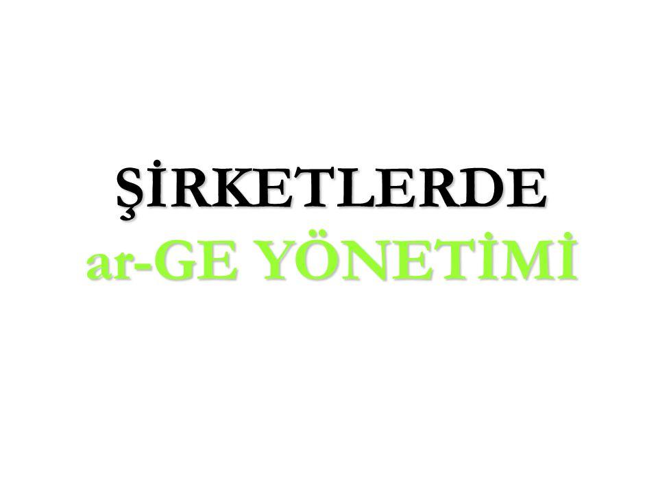 ŞİRKETLERDE ar-GE YÖNETİMİ