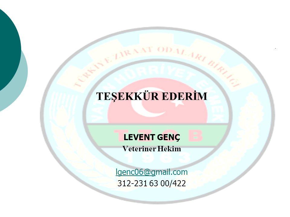 TEŞEKKÜR EDERİM LEVENT GENÇ Veteriner Hekim lgenc06@gmail.com
