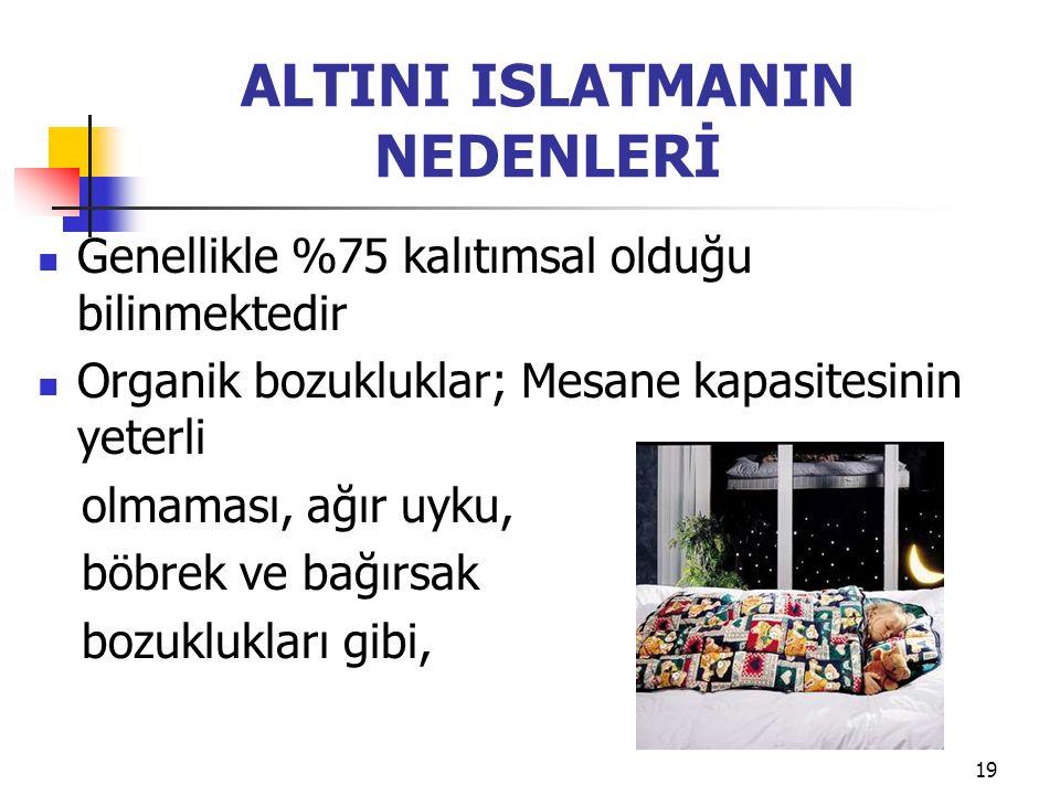 ALTINI ISLATMANIN NEDENLERİ