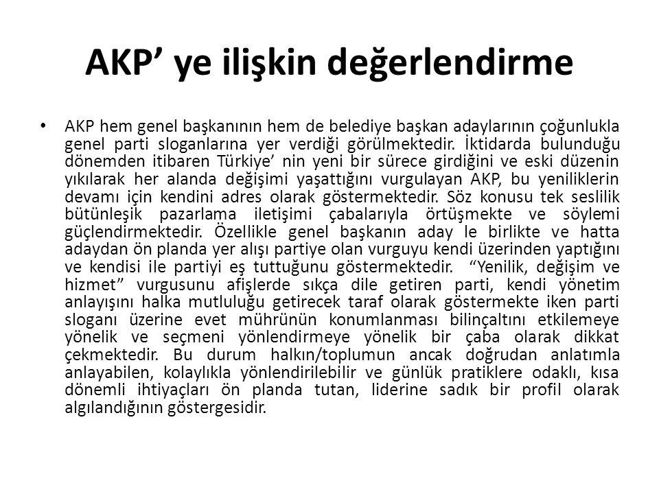 AKP' ye ilişkin değerlendirme