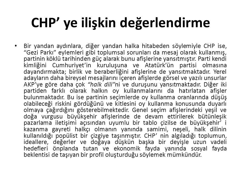 CHP' ye ilişkin değerlendirme