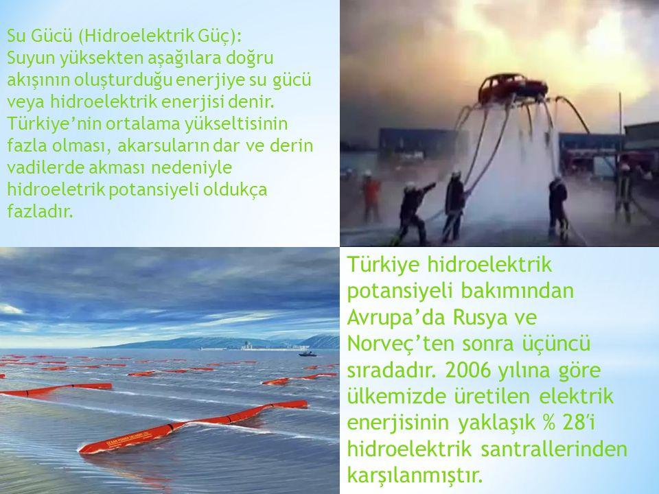 Su Gücü (Hidroelektrik Güç):