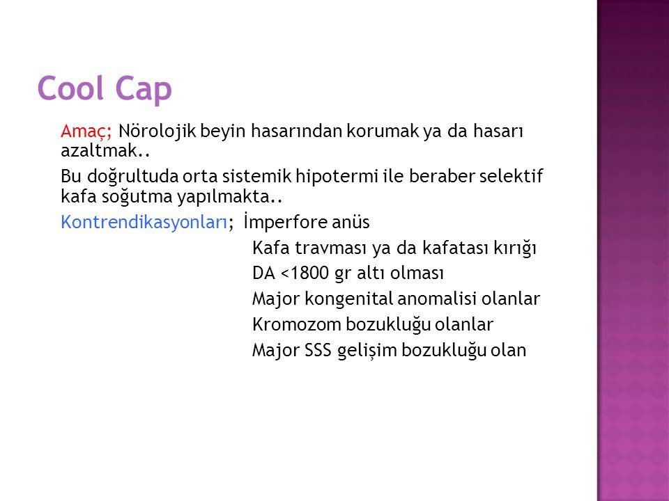 Cool Cap Amaç; Nörolojik beyin hasarından korumak ya da hasarı azaltmak..
