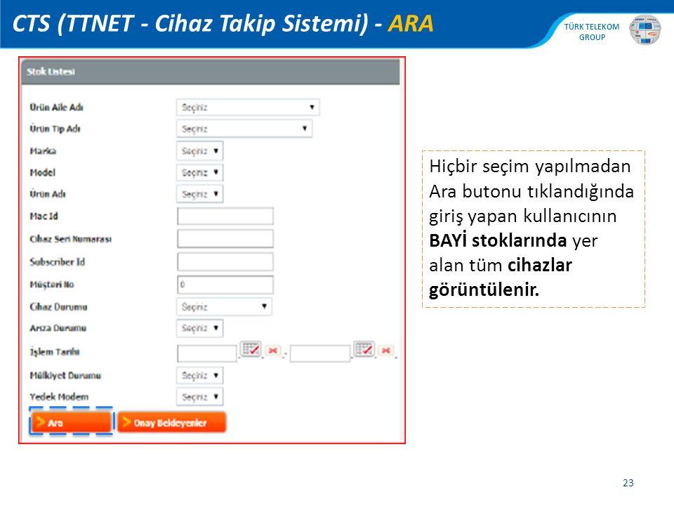 CTS (TTNET - Cihaz Takip Sistemi) - ARA