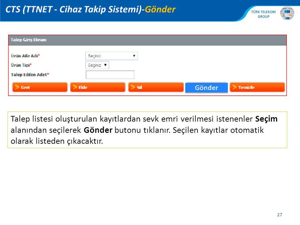 CTS (TTNET - Cihaz Takip Sistemi)-Gönder