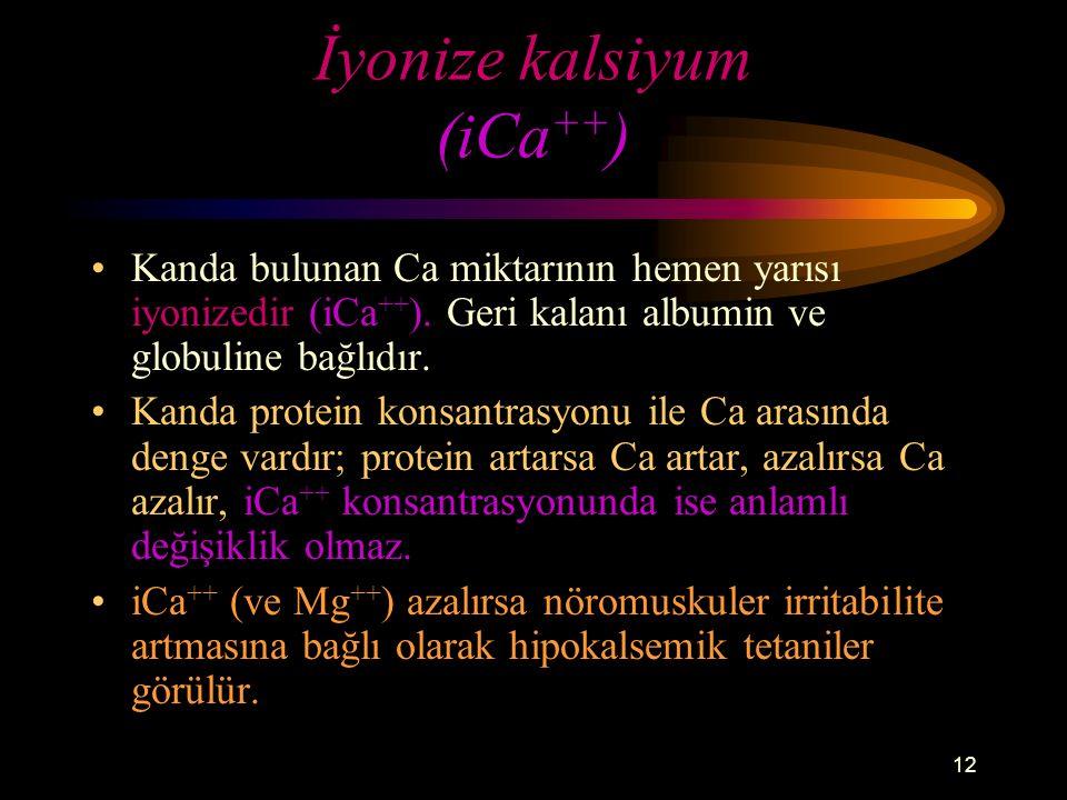 İyonize kalsiyum (iCa++)