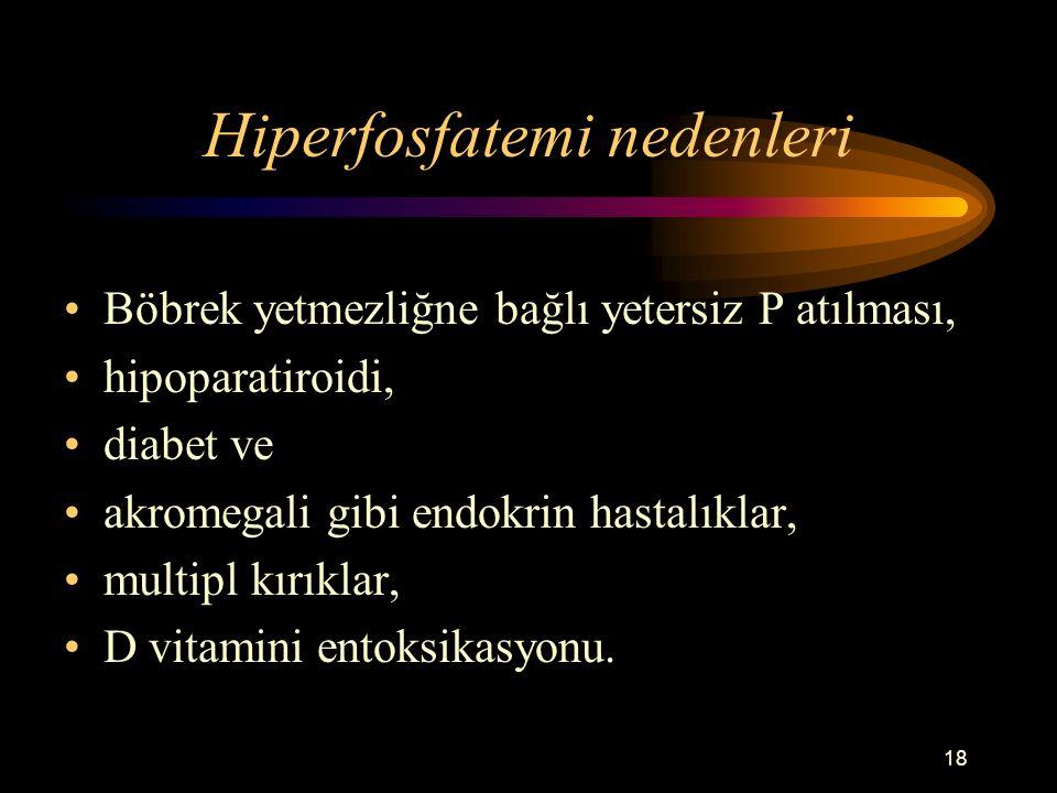 Hiperfosfatemi nedenleri