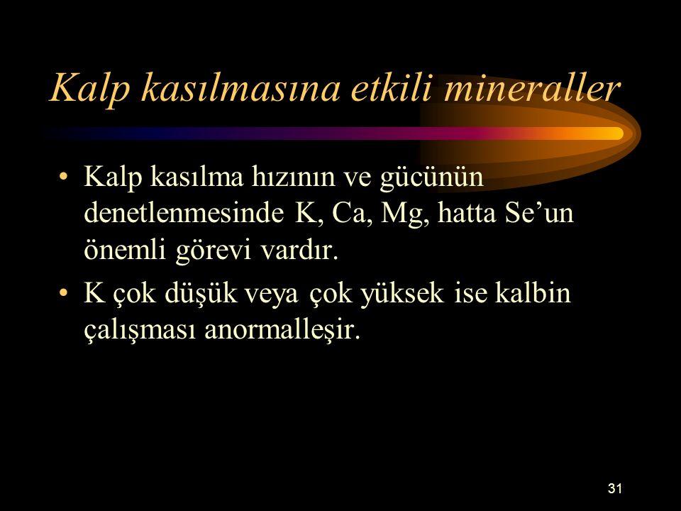 Kalp kasılmasına etkili mineraller