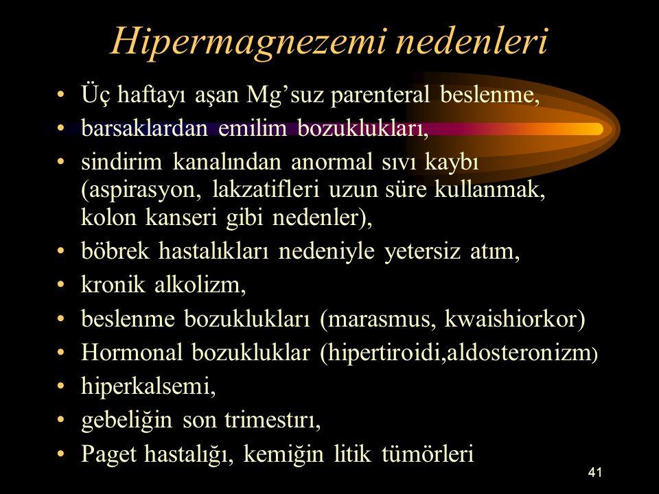 Hipermagnezemi nedenleri