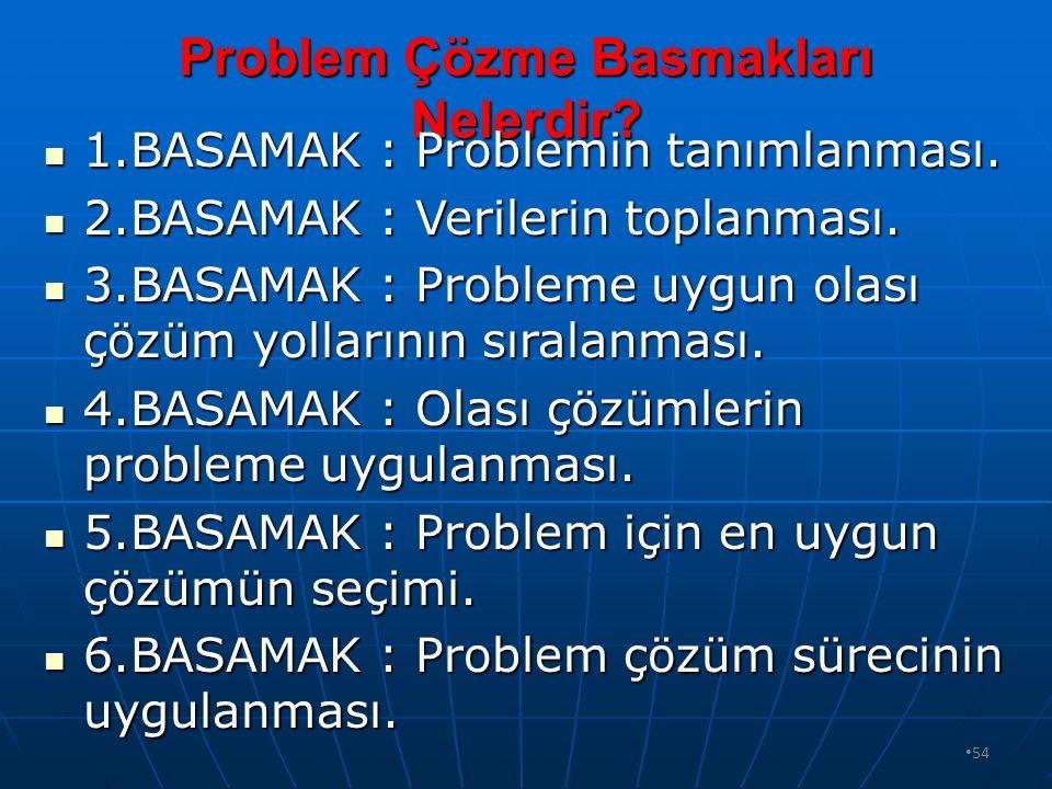 Problem Çözme Basmakları Nelerdir