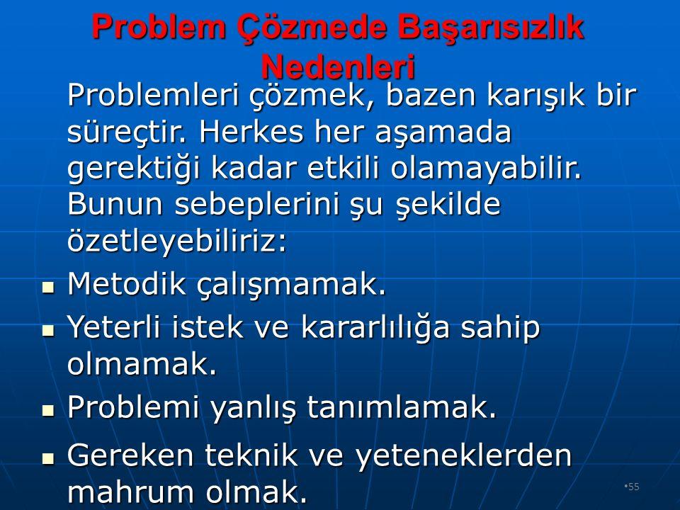 Problem Çözmede Başarısızlık Nedenleri