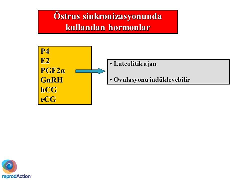 Östrus sinkronizasyonunda kullanılan hormonlar