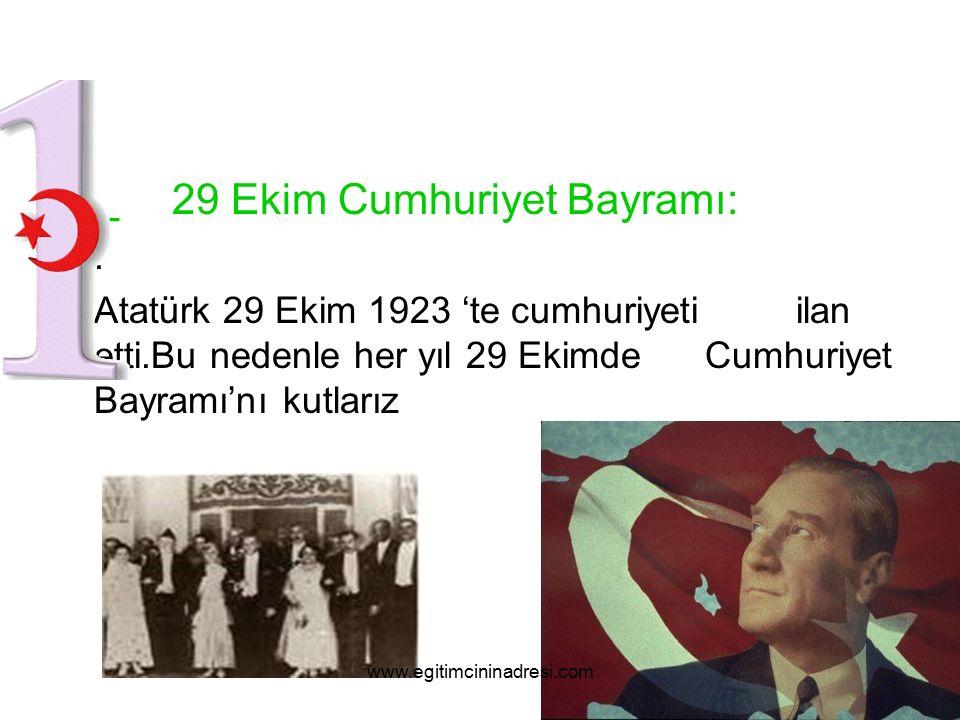 _ 29 Ekim Cumhuriyet Bayramı: .