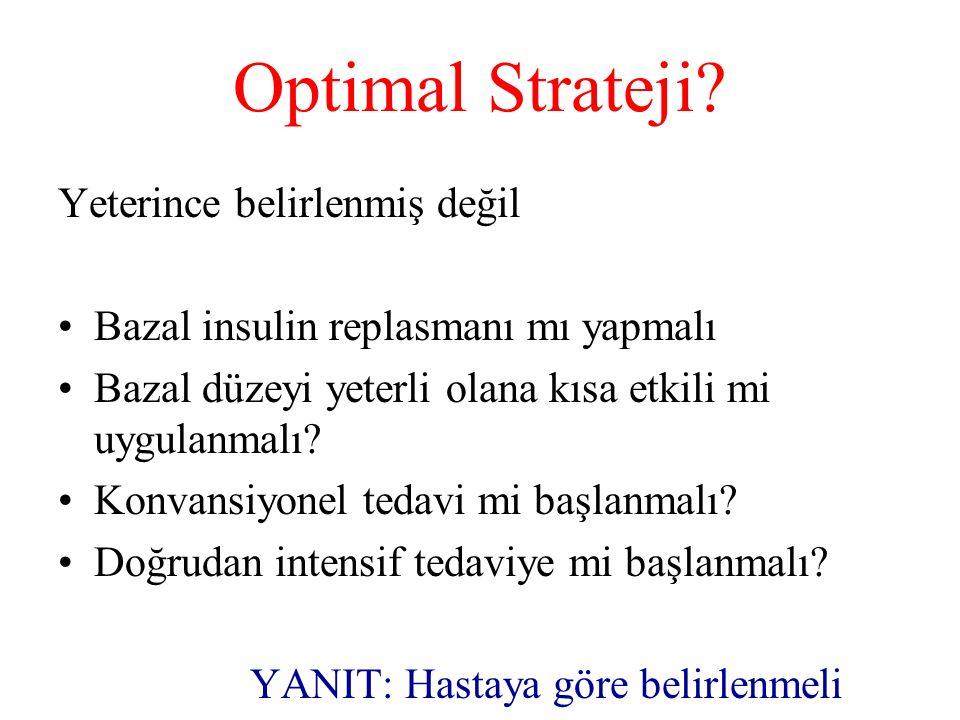 Optimal Strateji Yeterince belirlenmiş değil