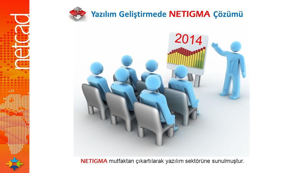 NETIGMA mutfaktan çıkartılarak yazılım sektörüne sunulmuştur.
