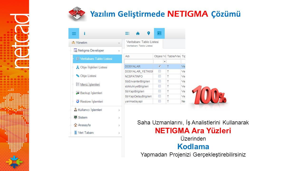 Yazılım Geliştirmede NETIGMA Çözümü