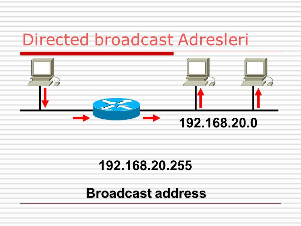 Directed broadcast Adresleri