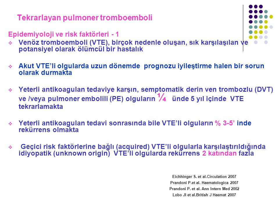 Tekrarlayan pulmoner tromboemboli