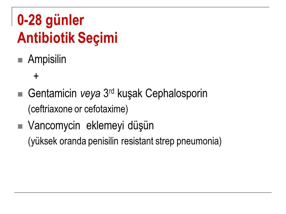 0-28 günler Antibiotik Seçimi