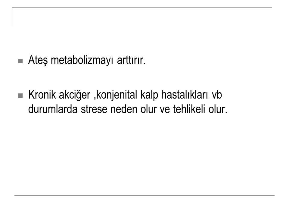 Ateş metabolizmayı arttırır.