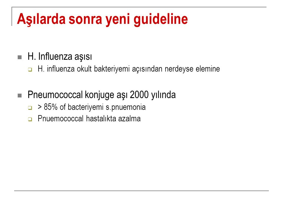 Aşılarda sonra yeni guideline