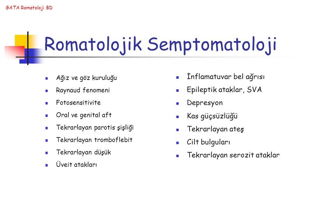 Romatolojik Semptomatoloji