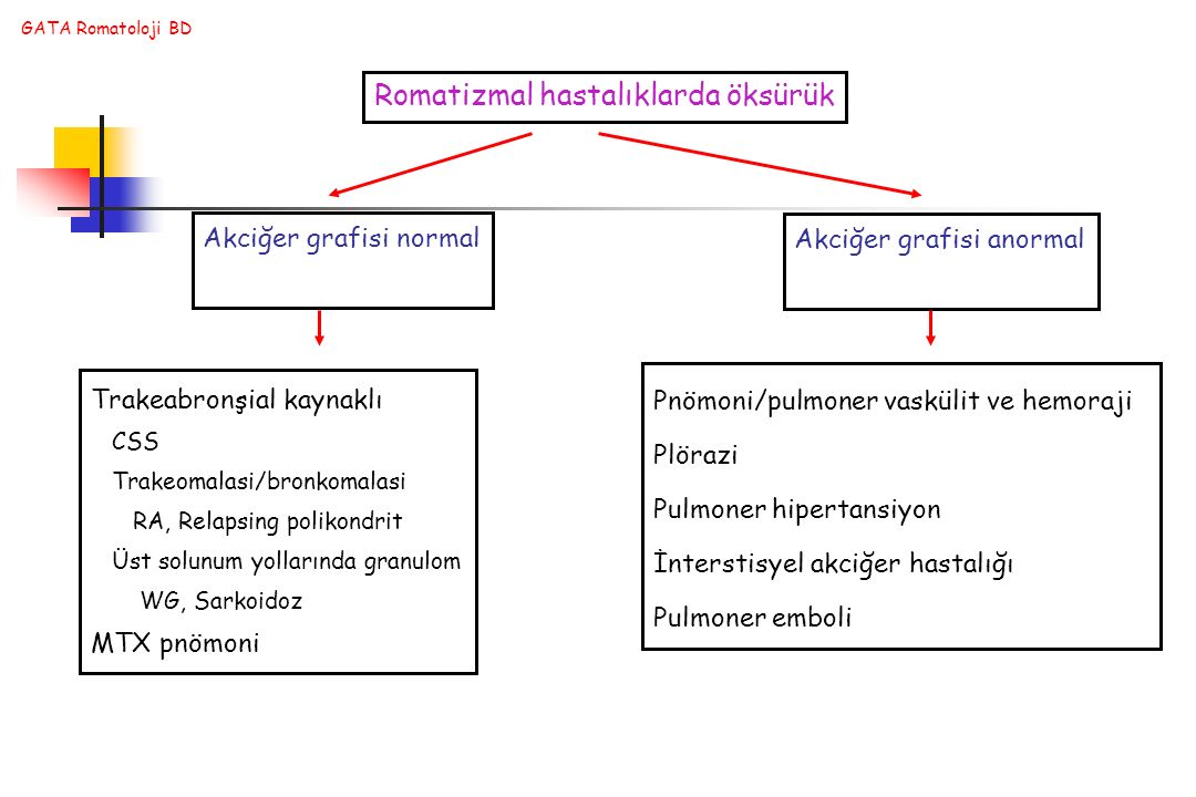 Romatizmal hastalıklarda öksürük