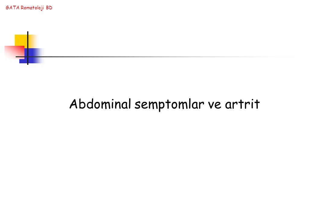 Abdominal semptomlar ve artrit