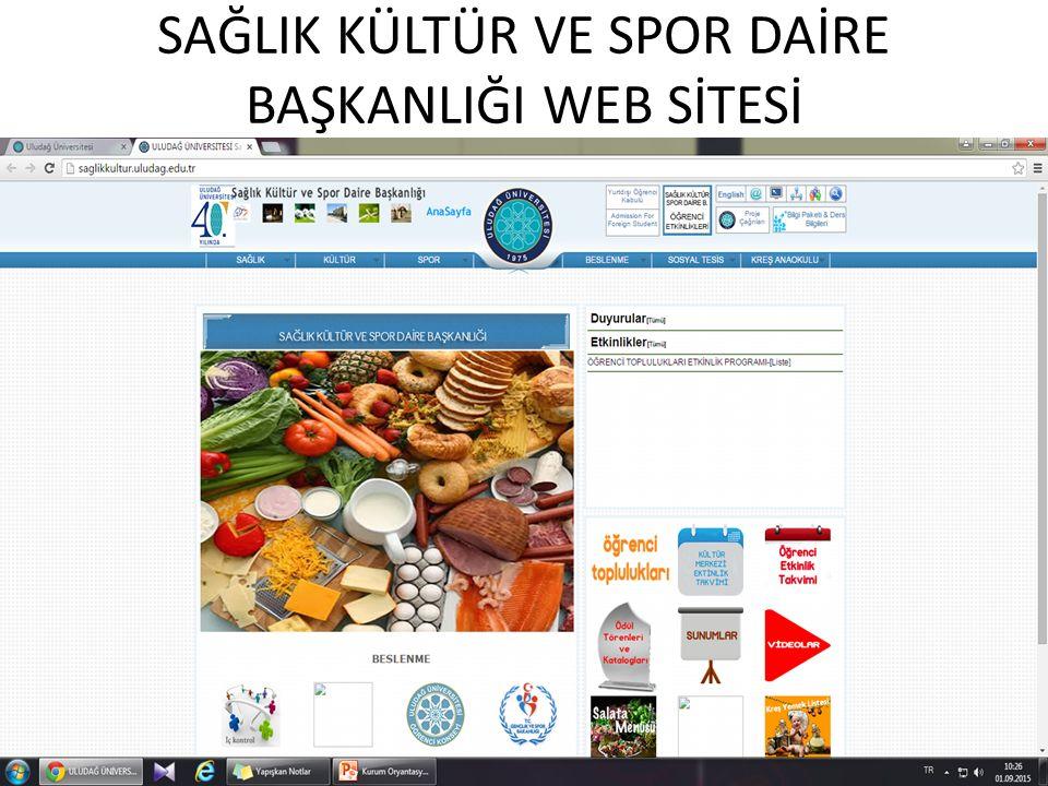 SAĞLIK KÜLTÜR VE SPOR DAİRE BAŞKANLIĞI WEB SİTESİ