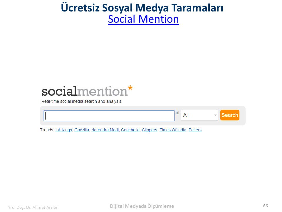 Ücretsiz Sosyal Medya Taramaları Dijital Medyada Ölçümleme