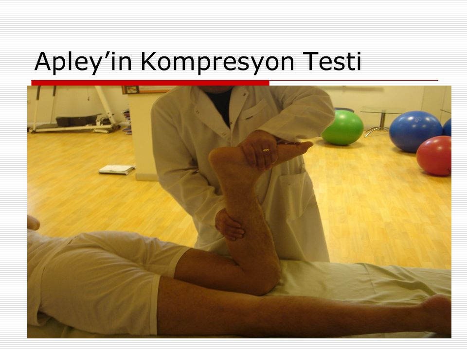 Apley'in Kompresyon Testi