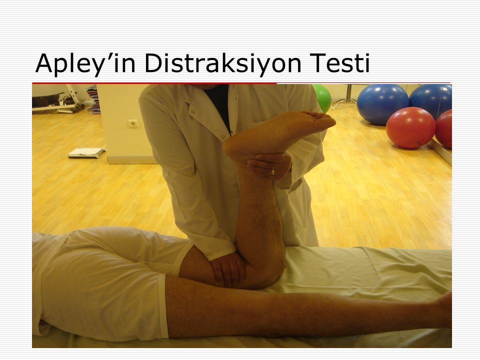 Apley'in Distraksiyon Testi