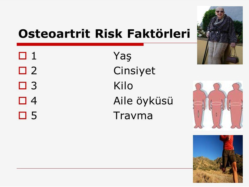 Osteoartrit Risk Faktörleri