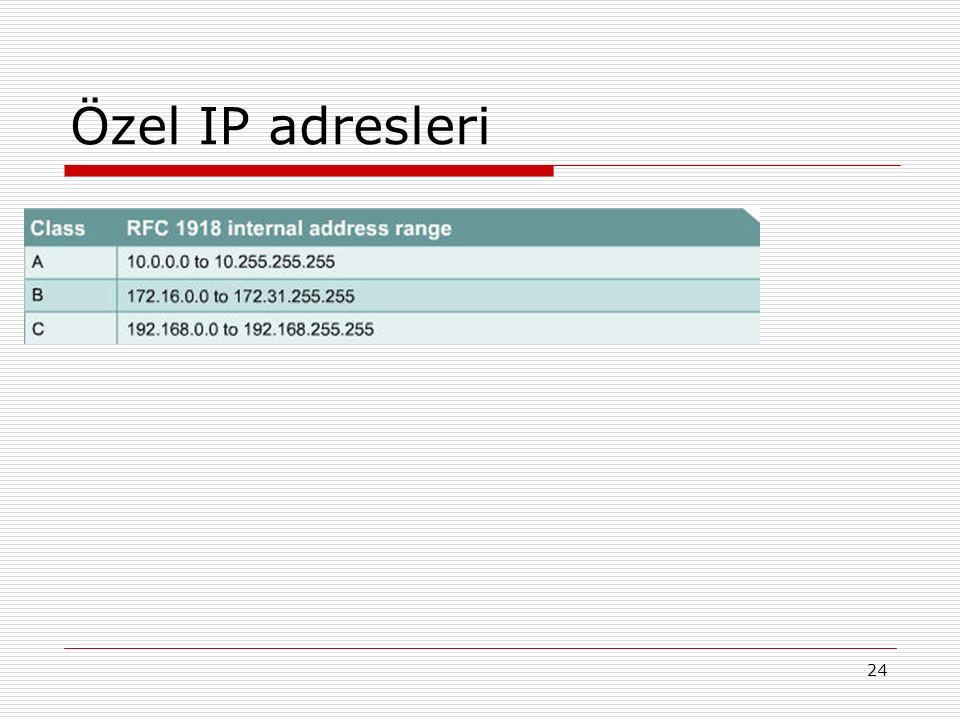 Özel IP adresleri