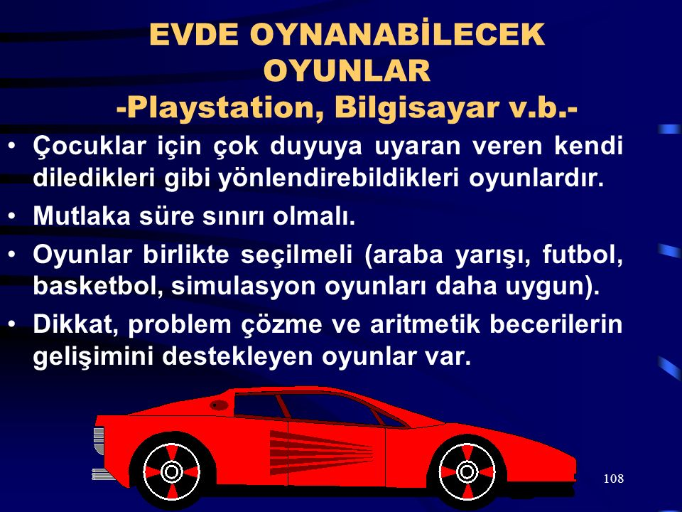 EVDE OYNANABİLECEK OYUNLAR -Playstation, Bilgisayar v.b.-
