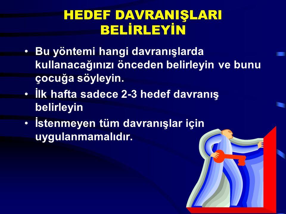HEDEF DAVRANIŞLARI BELİRLEYİN