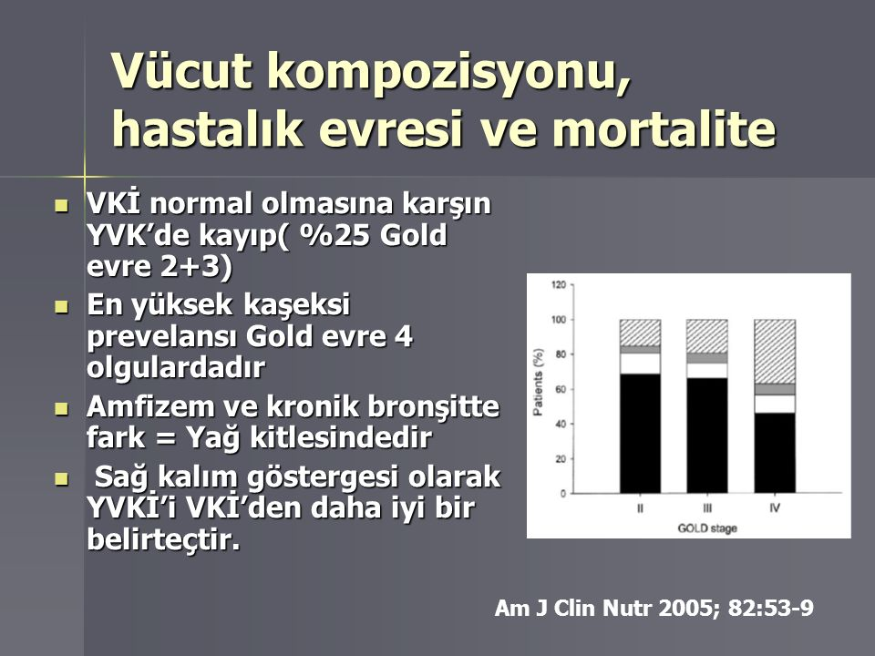 Vücut kompozisyonu, hastalık evresi ve mortalite